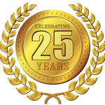 25 years in business medal