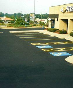 Partial Parking Lot Repair, Seal and Stripe