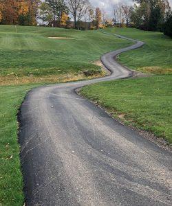 Golf Course Added Asphalt Cart Paths